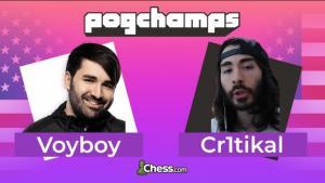 VoyBoy & MoistCr1tikal gewinnen das Chess.com PogChamps Finale