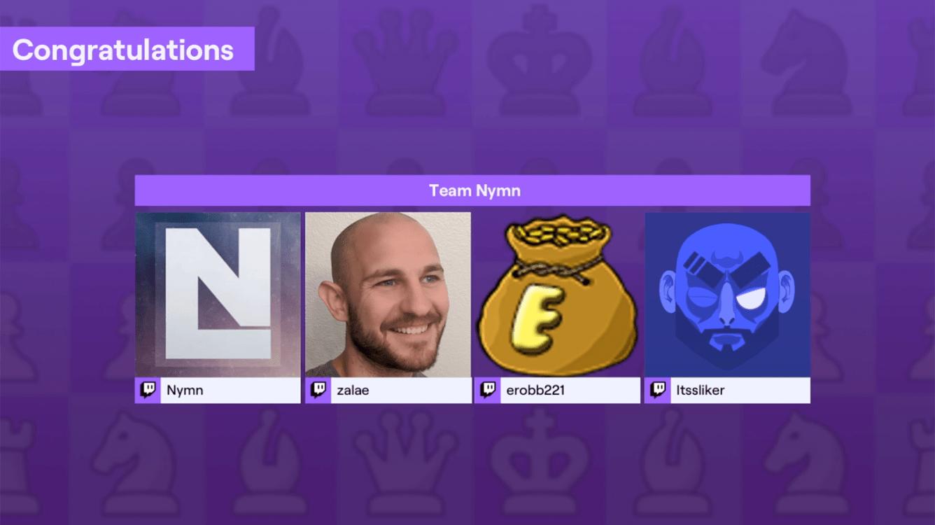 Team Nymn Wins Twitch Rivals Chess Showdown