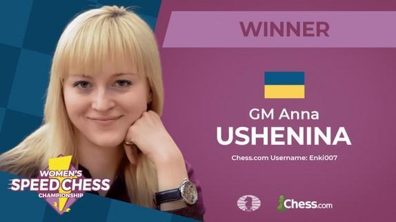 Anna Ushenina gewinnt die Damen Speed Chess Championship