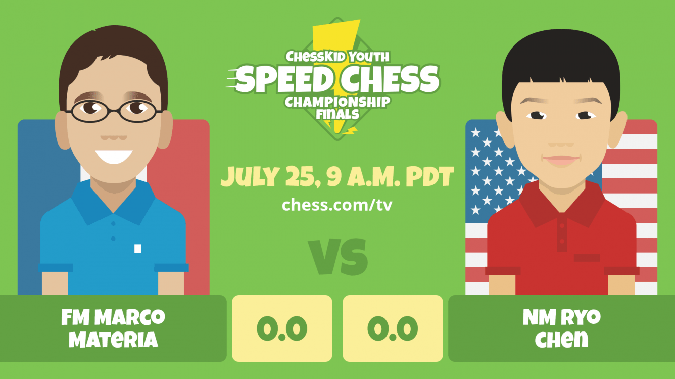 Top 2 Seeds Head to ChessKid Youth Speed Chess Championship Finals