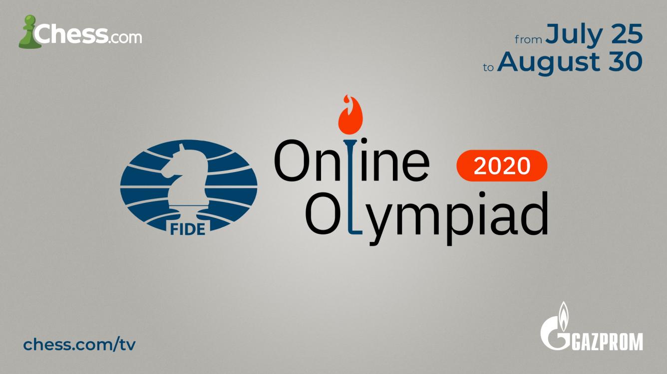 Olimpíada Online da FIDE começa dia 25 de julho no Chess.com