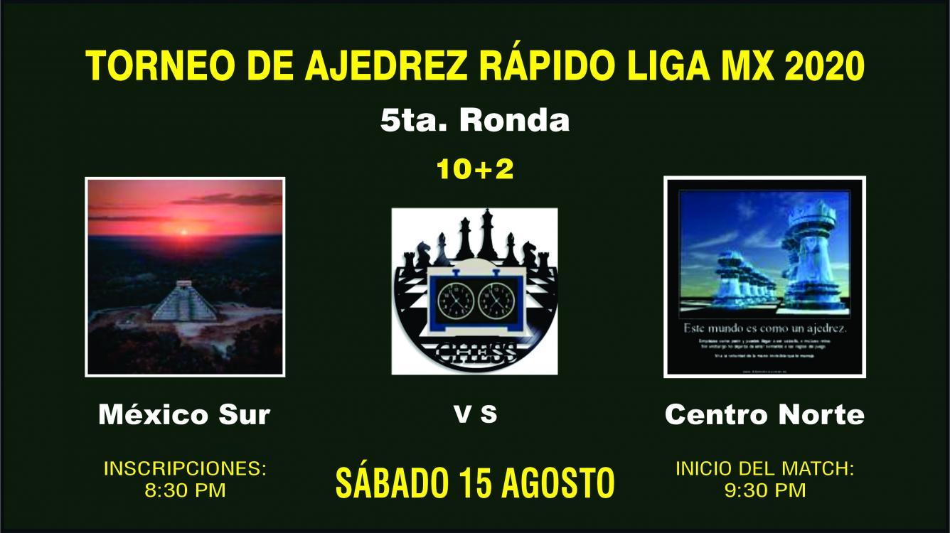 5ta. Ronda Ajedrez Rápido Liga Mx 2020