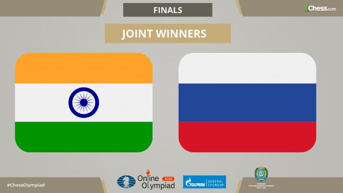 FIDE Online Olympiade: Indien und Russland teilen sich nach einer globablen Internetstörung Gold