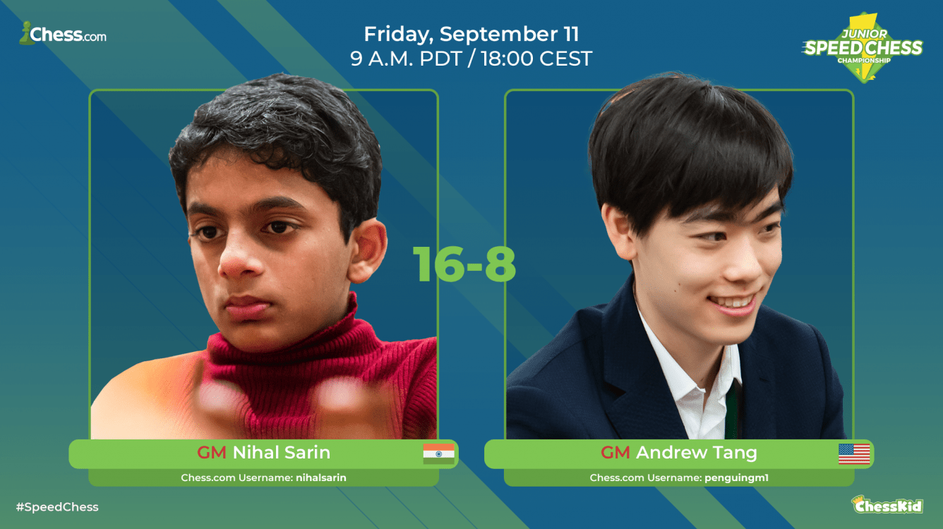 Nihal Beats Tang In Junior Speed Chess Championship