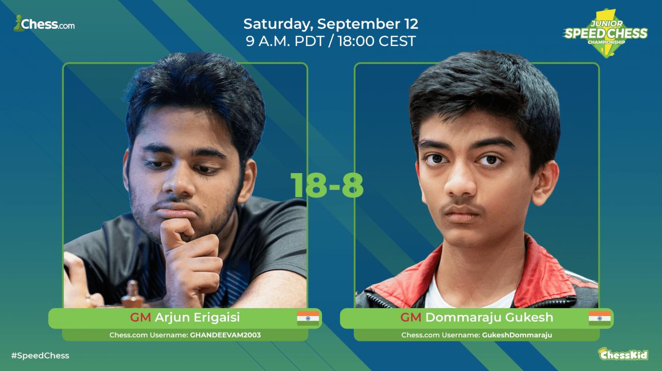Arjun Erigaisi Beats Gukesh D. In Junior Speed Chess Championship