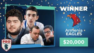 Armenia Eagles Win 2020 PRO Chess League