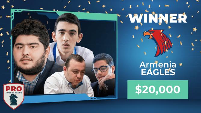Die Armenia Eagles gewinnen die PRO Chess League 2020