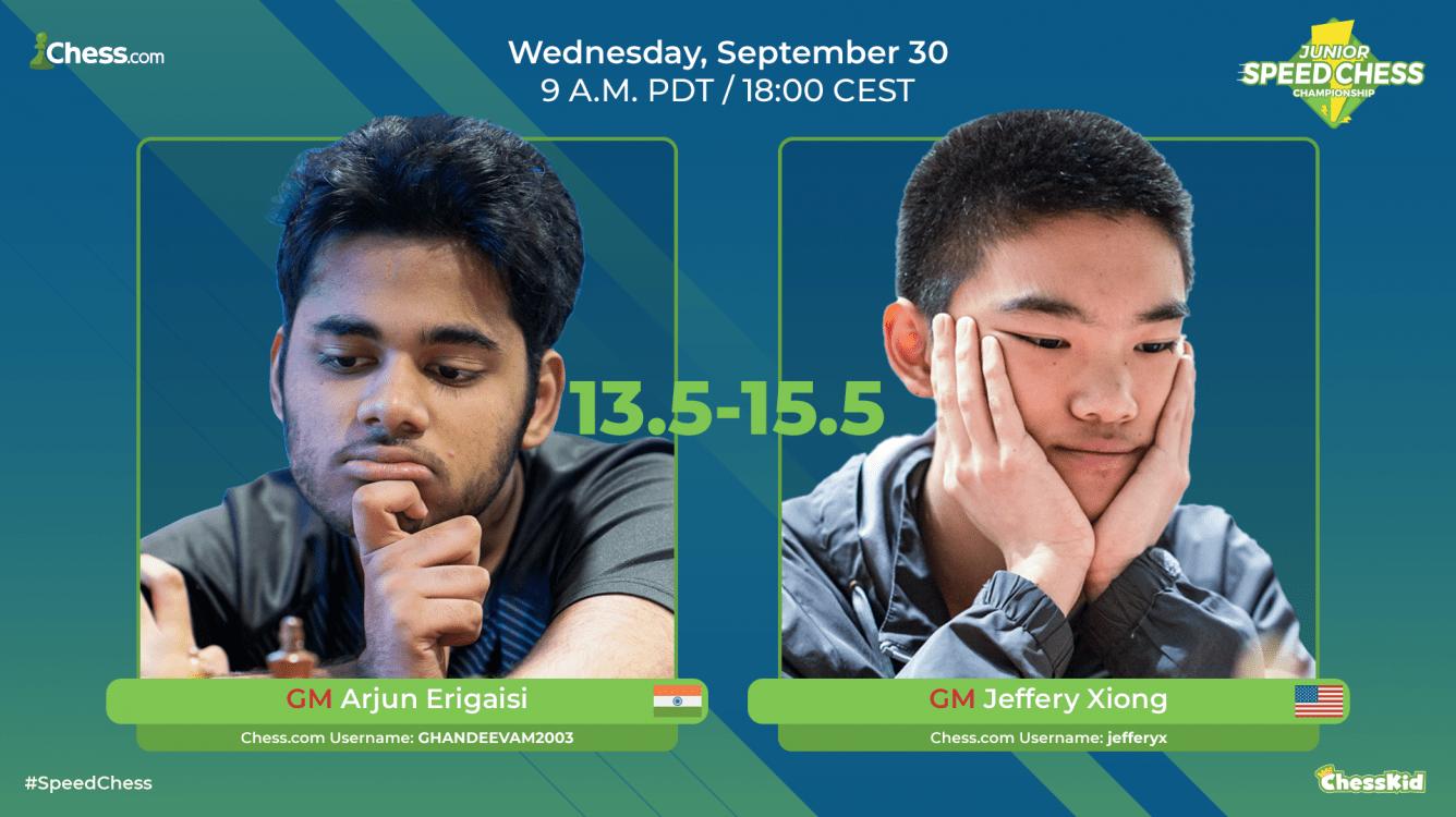Xiong Beats Erigaisi In Close Junior Speed Chess Match