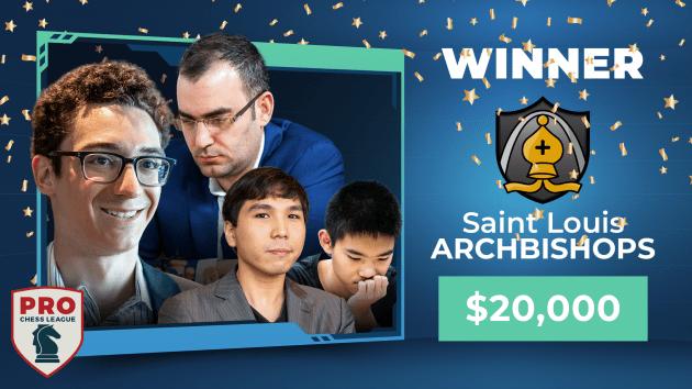 Saint Louis Arch Bishops 2020 PRO Chess League Champions; Armenia Eagles Disqualified