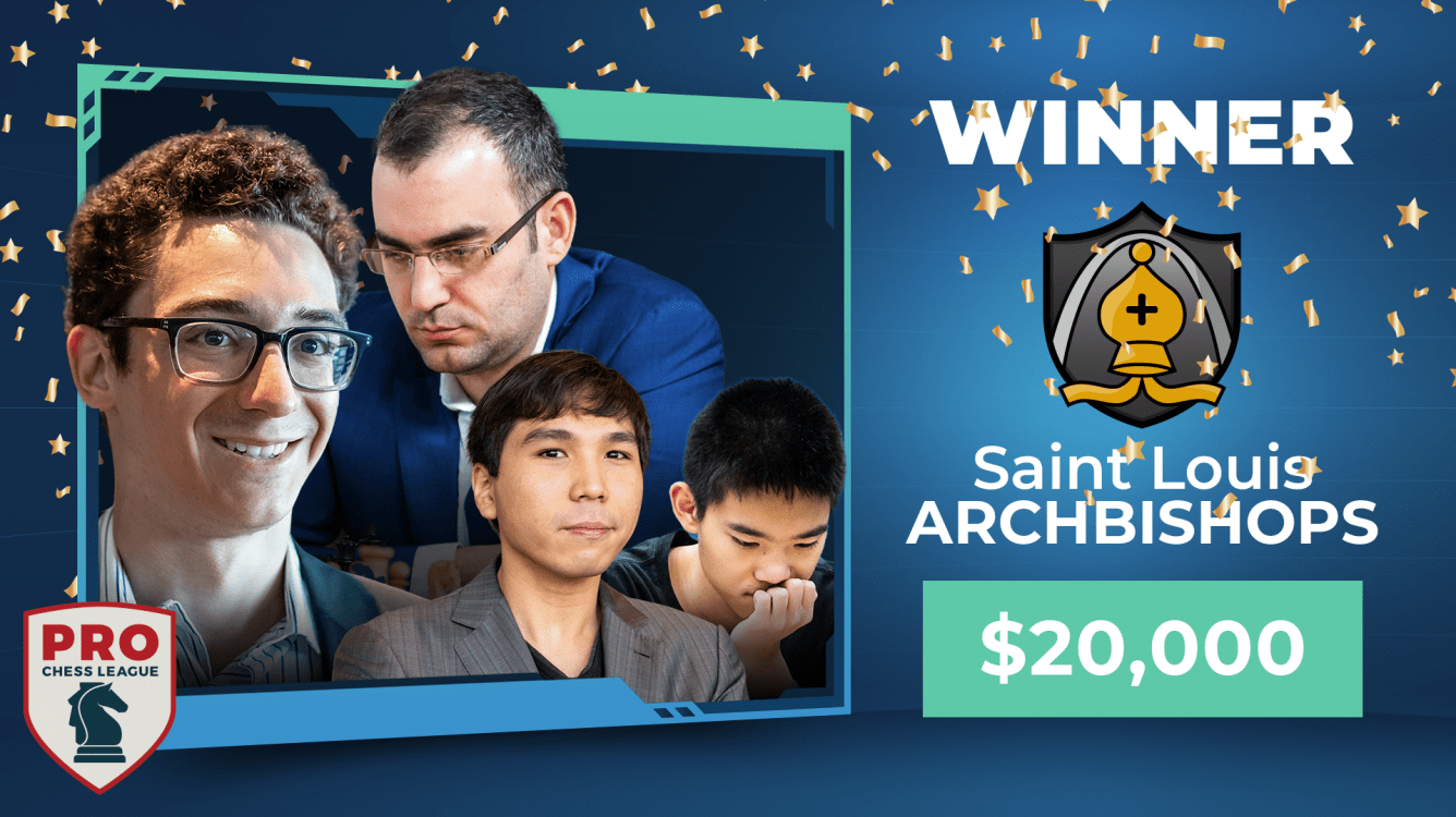 Saint Louis Arch Bishops 2020 PRO Chess League Champions; Armenia Eagles Disqualified