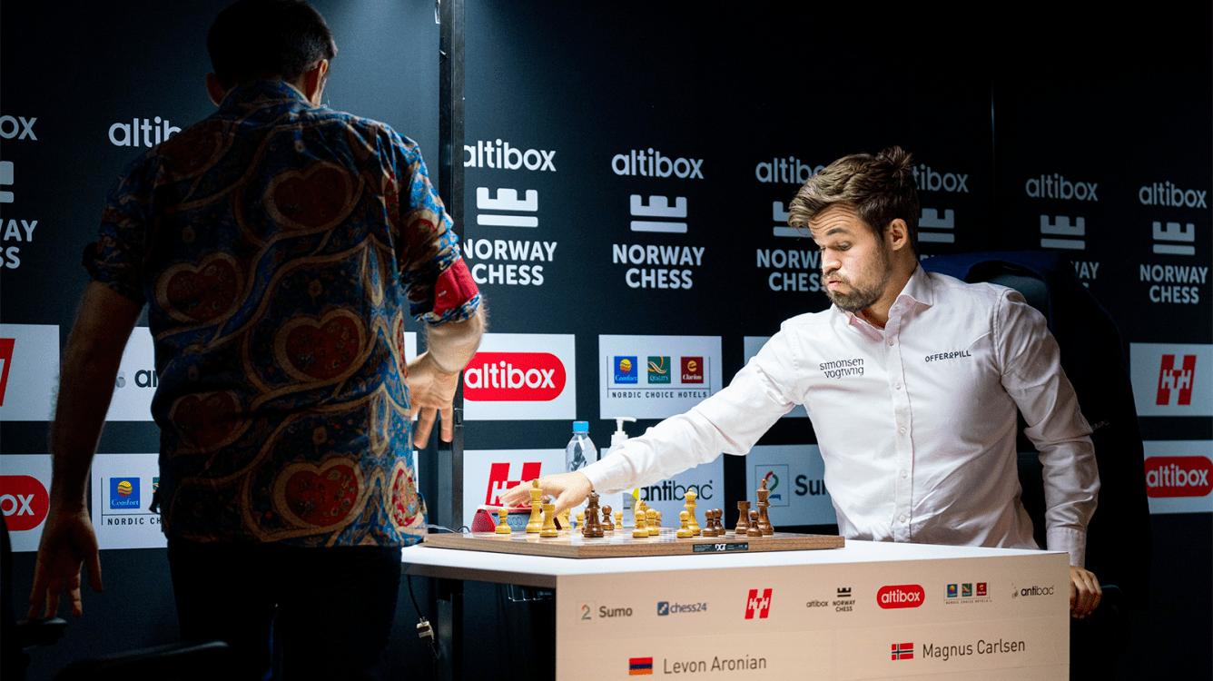 Carlsen derrota a Aronian en el armagedón en el día inaugural del Norway Chess