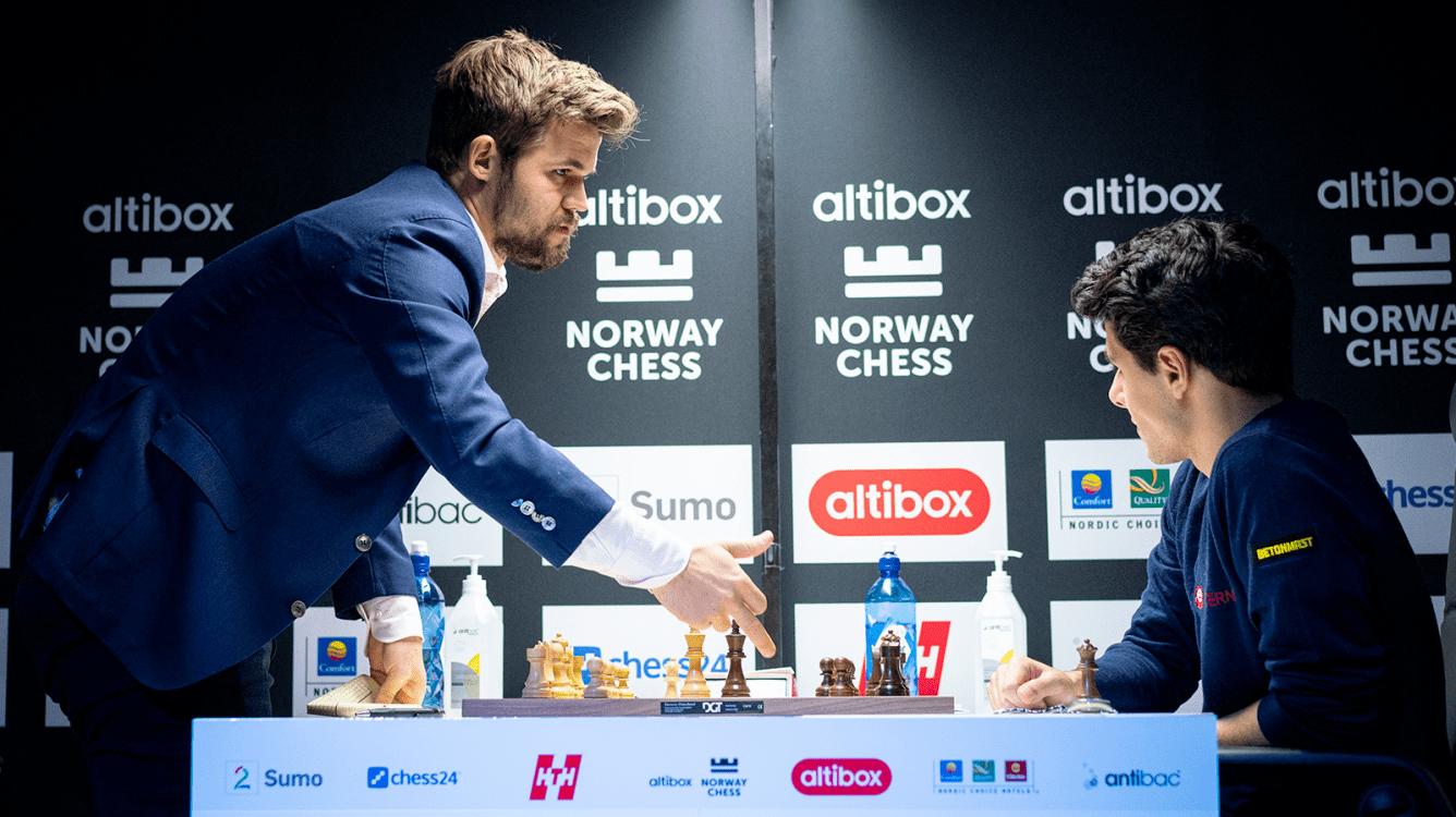 Norway Chess Round 8: Carlsen Overtakes Firouzja