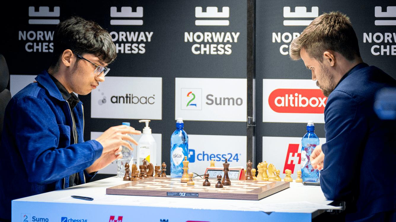 Carlsen, campeón del Norway Chess a falta de una ronda tras un error grave de Firouzja en un final de peones