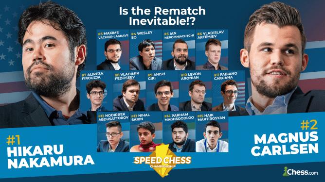 Carlsen, Nakamura et MVL au rendez-vous du Speed Chess Championship