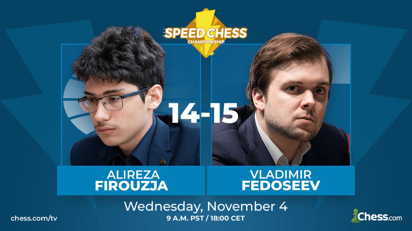 Fedoseev Eliminates Firouzja In Speed Chess Thriller