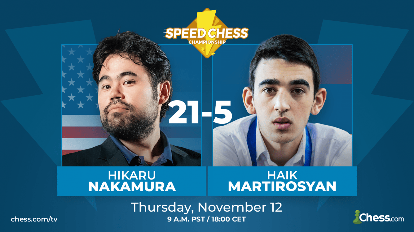 Nakamura supera con claridad a Martirosyan en octavos de final del Speed Chess