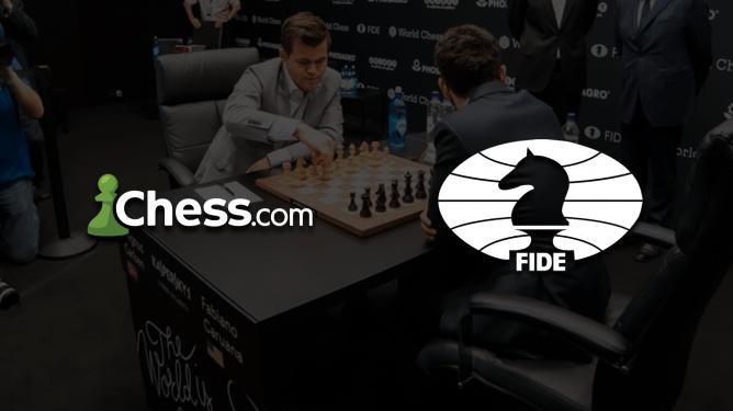La FIDE d'accord avec Chess.com pour les droits de diffusion du Championnat du Monde 2021