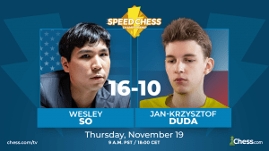 So Defeats Duda With Incredible 3 1 Performance In Speed Chess