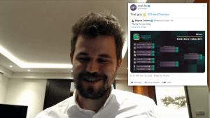 """Carlsen Beats """"That Guy"""" Giri In 1st Skilling Open Knockout Day"""
