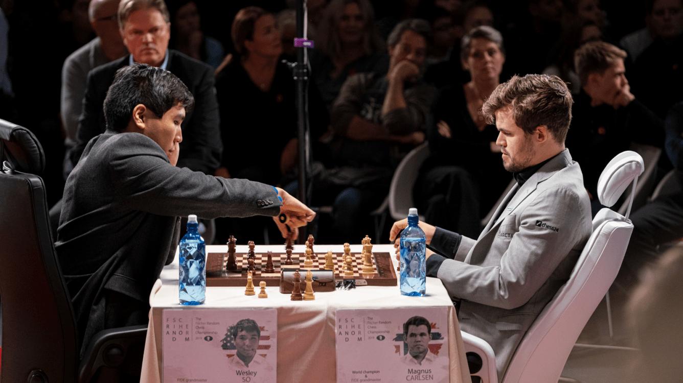 Carlsen, So Tie 1st Match In Skilling Open Final