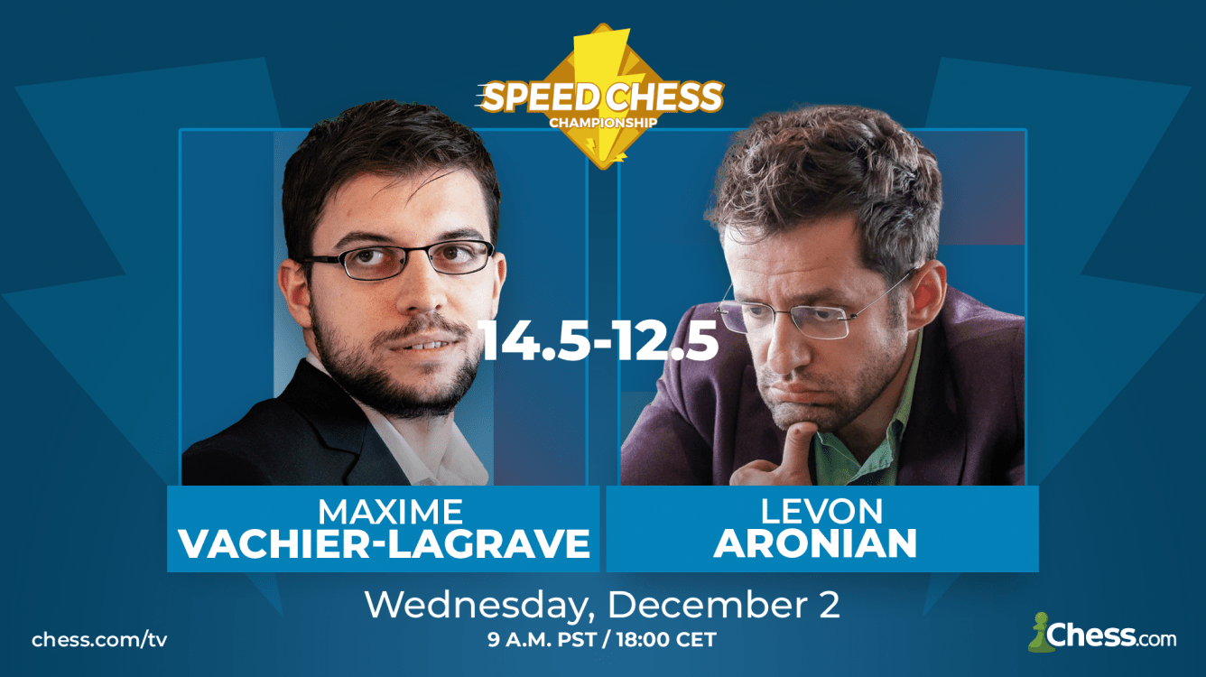 Vachier-Lagrave Beats Aronian In Close Speed Chess Match