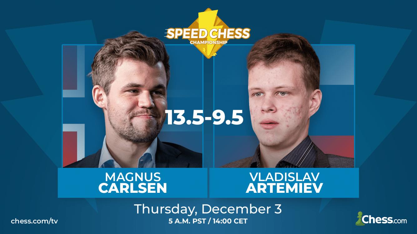 "Carlsen Beats Artemiev In ""Tough"" Speed Chess Match"