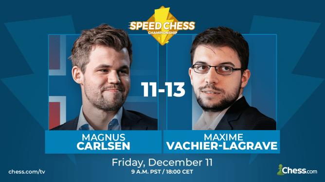 Vachier-Lagrave besiegt Carlsen im Halbfinale der Speed Chess Championship