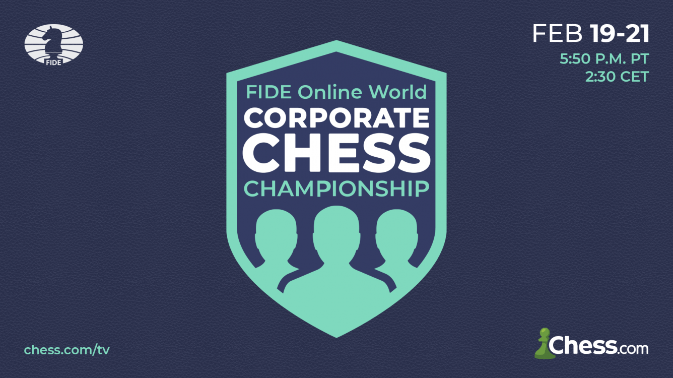 Register Now For The FIDE Online World Corporate Chess Championship