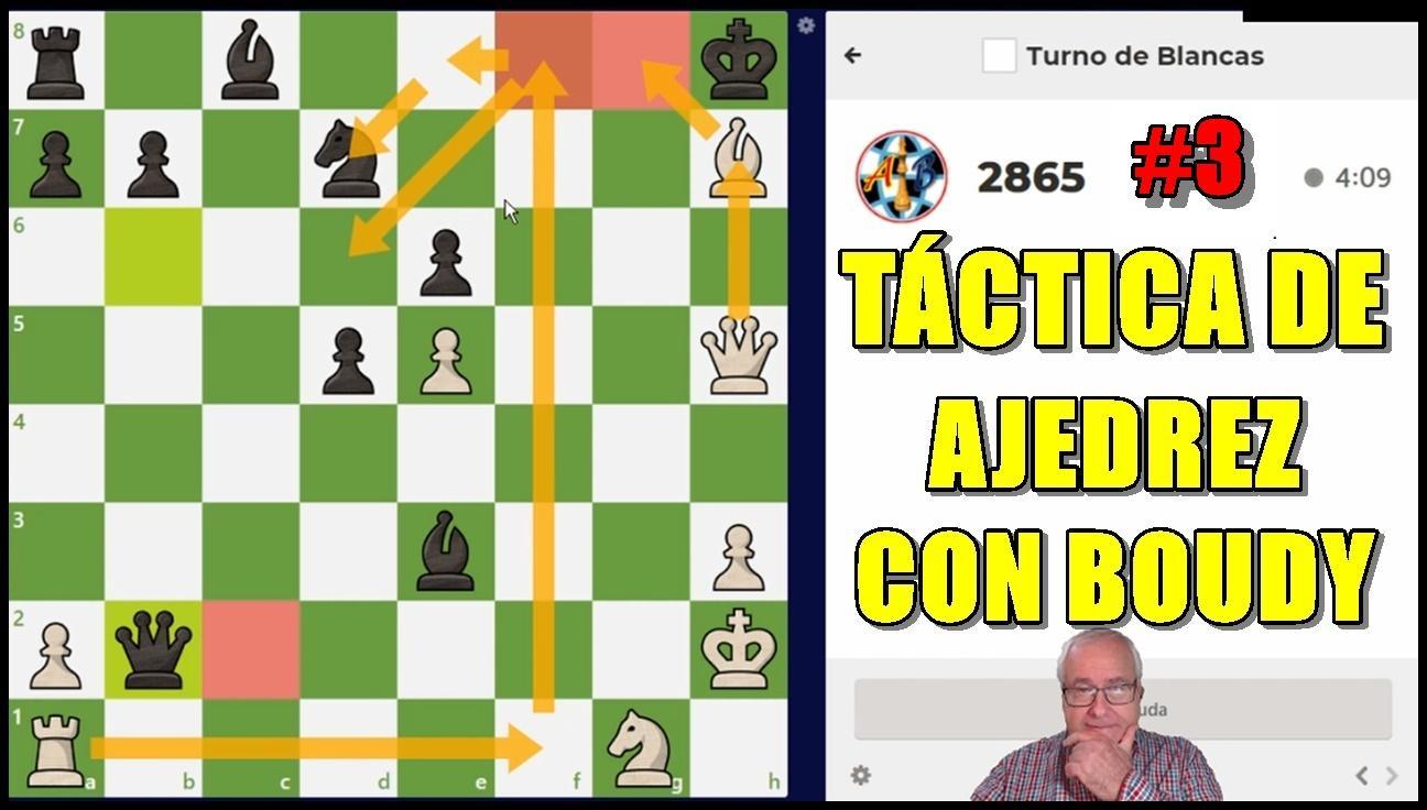 3 Entrenamiento de Táctica de Ajedrez con Boudy