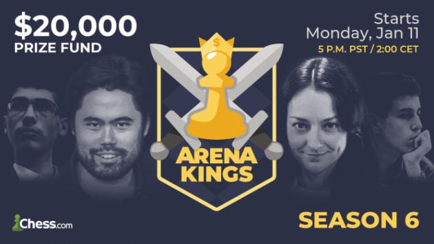 In der Nacht von Montag auf Dienstag beginnt die sechste Staffel der Arena Kings Turnierserie