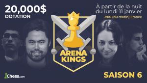 Début de la saison 6 des Arenas Kings le 11 janvier