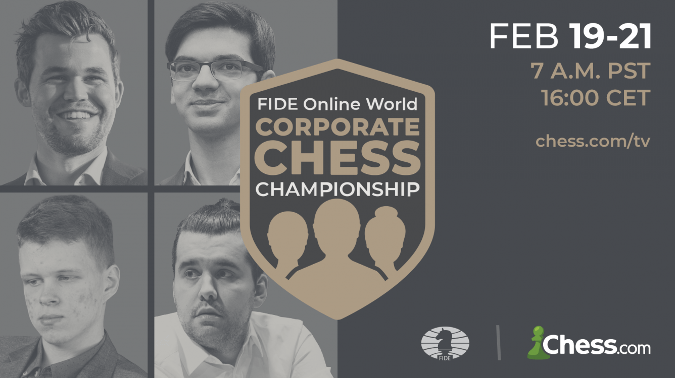 Carlsen To Play In FIDE Online World Corporate Chess Championship