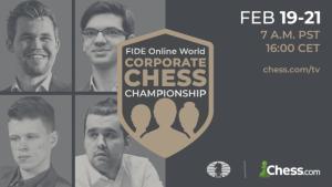 Carlsen spielt bei der FIDE Online Firmen-Weltmeisterschaft mit