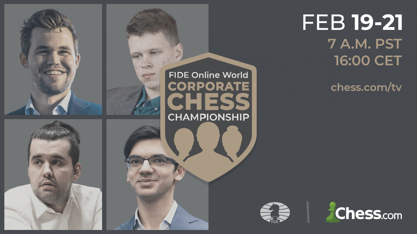 FIDE Online World Corporate Chess Championship Underway