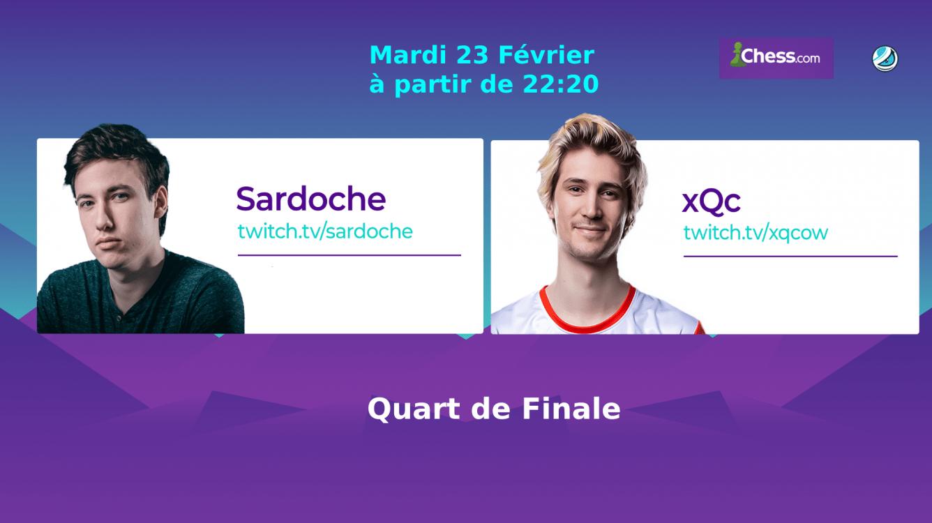 Sardoche-xQc en 1/4 de finale des Pogchamps