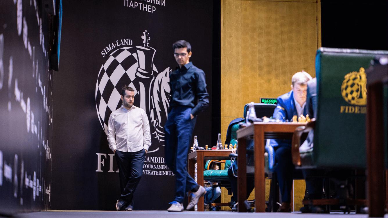 Torneio de Candidatos da FIDE: rodada com 4 vitórias e Nepo mantém a liderança