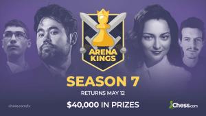 Indul az Arena Kings 7. Évada, május 12-étől, 40,000 dolláros díjalappal