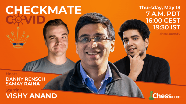 Announcing the Checkmate COVID Simul Featuring GM Viswanathan Anand