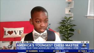 Tani Adewumi Makes New Headlines Becoming National Master At 10
