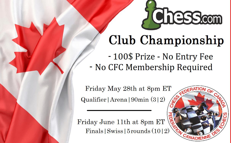 2021 Club Championship   100$ Prize No Entry Fee