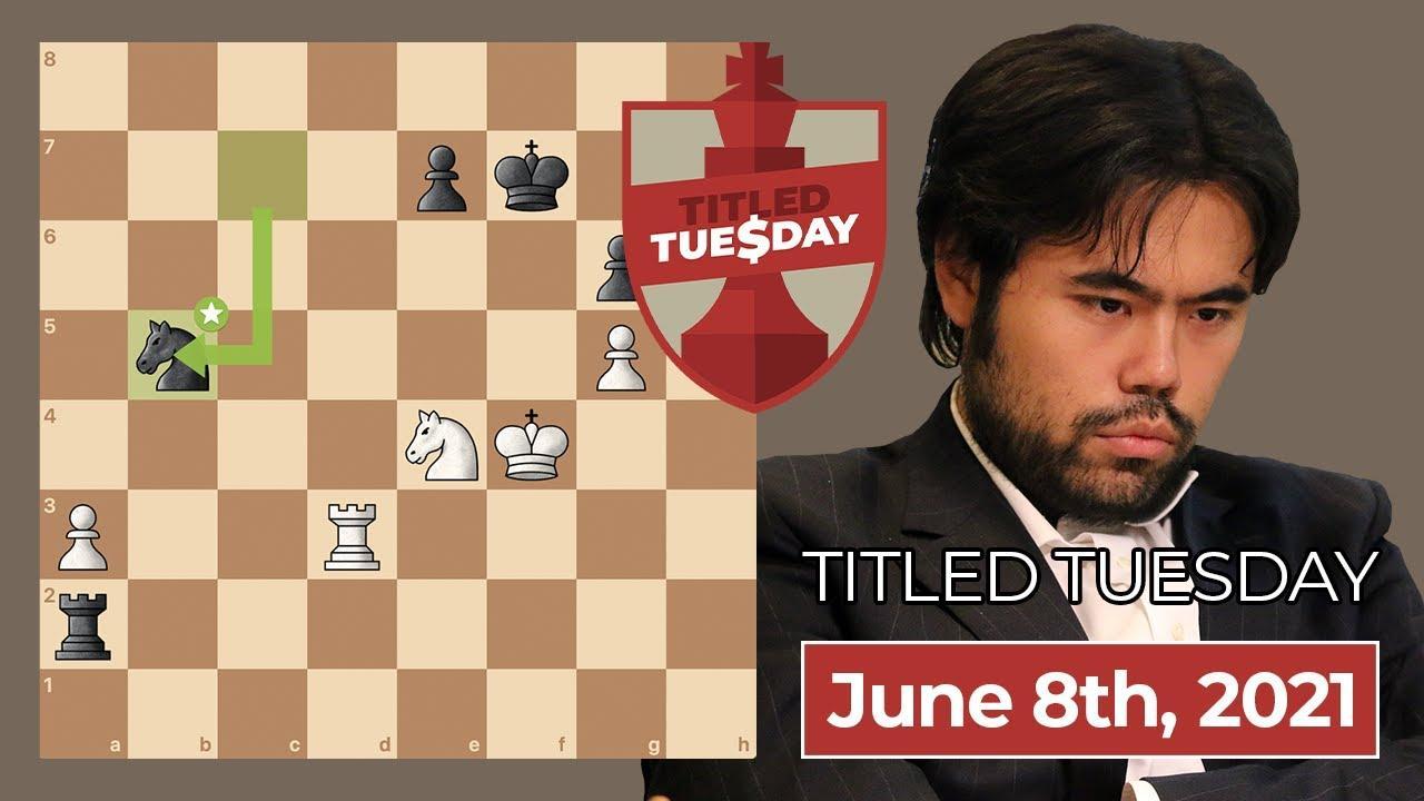 Nakamura Wins June 8 Titled Tuesday