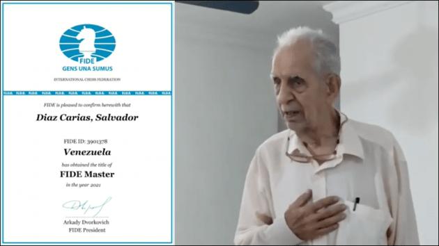 Venezuelan Chess Player Gets FM Title At 88