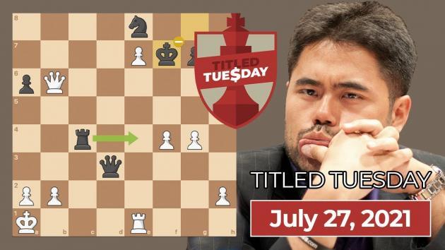 Nakamura Wins July 27 Titled Tuesday