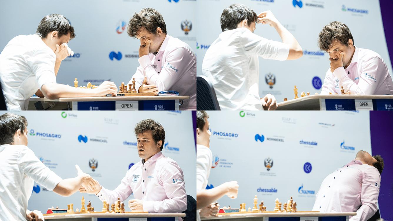 Copa do Mundo da FIDE: Carlsen elimina Esipenko em um desempate épico
