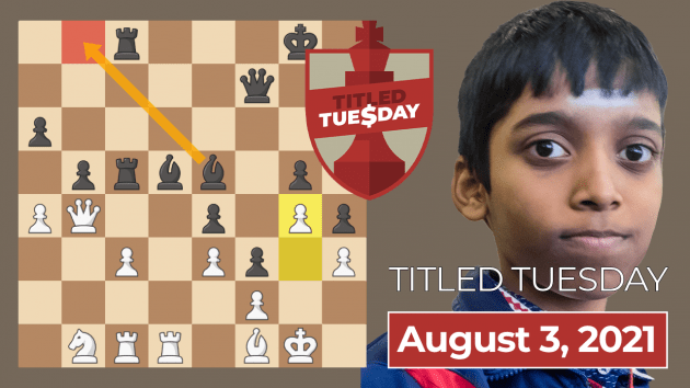 Praggnanandhaa Wins August 3 Titled Tuesday