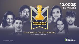 Chess.com anuncia el Arena Kings - Club Edition: comienza el 3 de septiembre