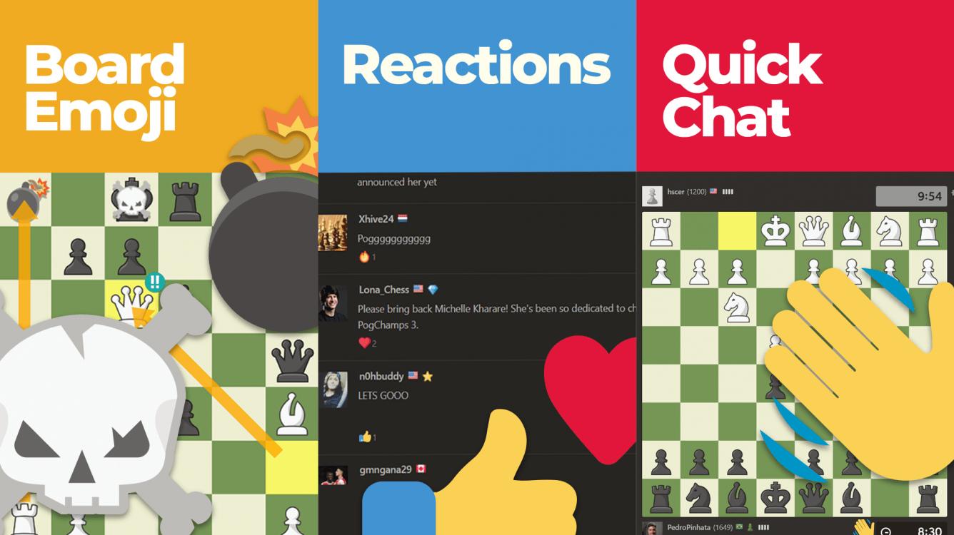 Nuevos emojis animados en Chess.com