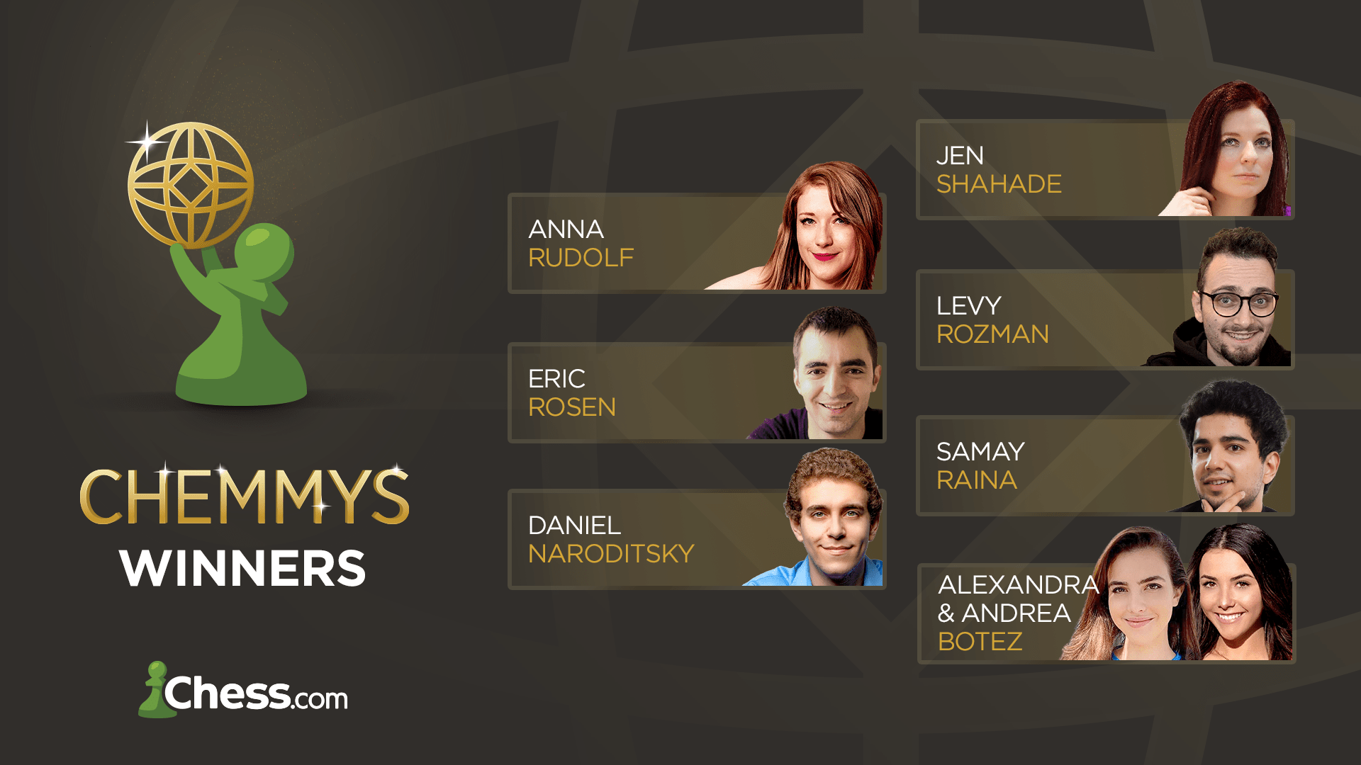 Announcing The Chemmys Winners