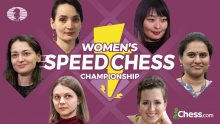 Knockout C Tag 2 der Women`s Speed Chess Championship mit IM Steve Berger