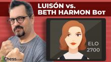 Luisón vs. Beth Harmon Bot (2700)